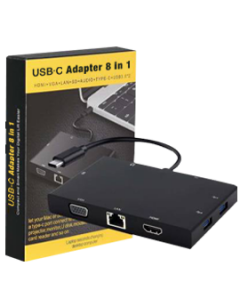 USB-C to HDML 8 in 1 Adapter